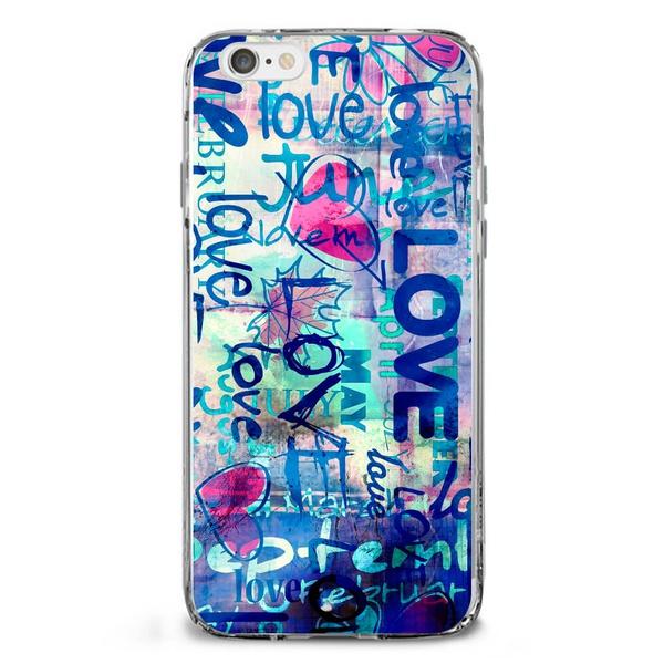 CAPA FLEXIVEL ESTAMPADA LOVE GRAFFITI LOVE E109