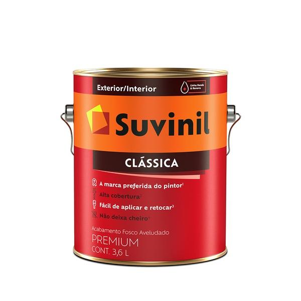 TINTA PVA CLASSICA BRANCO 3,6L SUVINIL