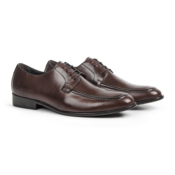 Sapato Social em Couro Uisque - Duomo