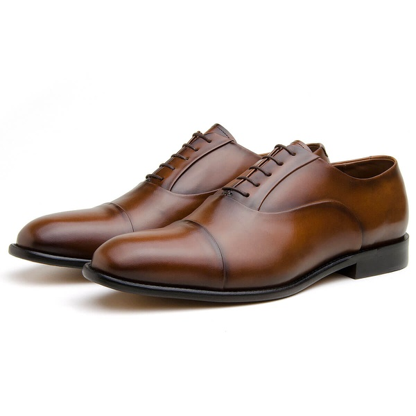 Sapato Social Masculino Oxford CNS Houston 01 Damasco