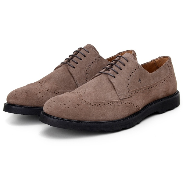 Sapato Casual Masculino Derby CNS Brogue Hook Caramelo