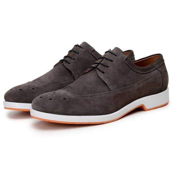 Sapato Casual Masculino Derby CNS Brogue Noos Chumbo