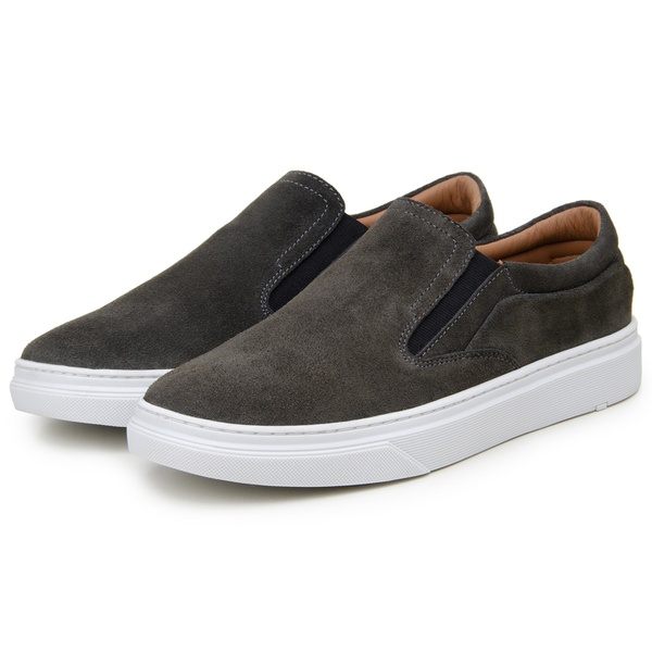 Tênis Casual Masculino Slip-on-CNS Mandi Grafite