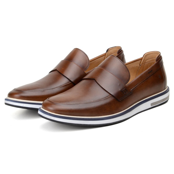 Sapato Casual Masculino Loafer CNS Opus Whisky