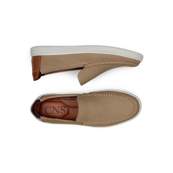 Sapato Casual Masculino Slip-on CNS 20001 Areia