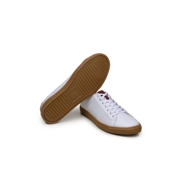 Tênis Casual Masculino Slip-on CNS KIN 271 Branco e Bordô