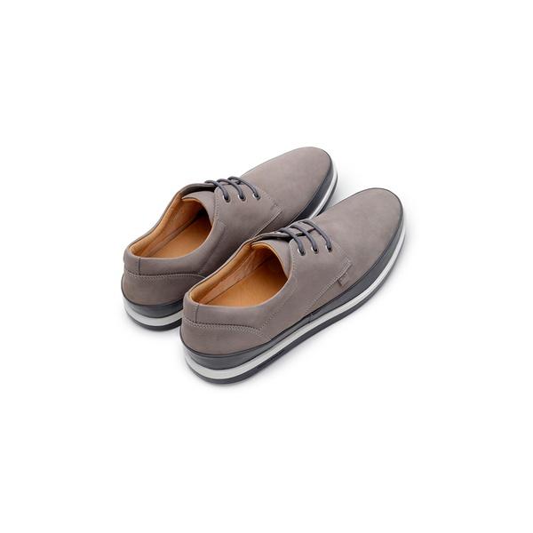 Sapato Casual Masculino Derby CNS Padua 02 Cinza