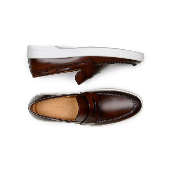 Sapato Casual Masculino Mocassim CNS Prado 01 Madeira