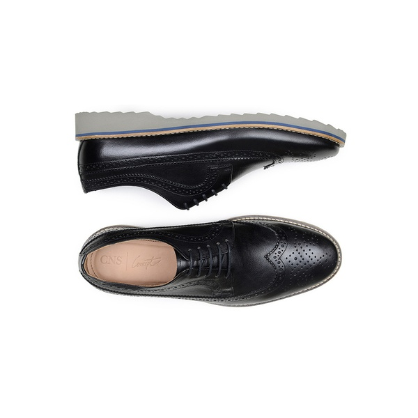 Sapato Casual Masculino Derby CNS Brogue 50601 Preto