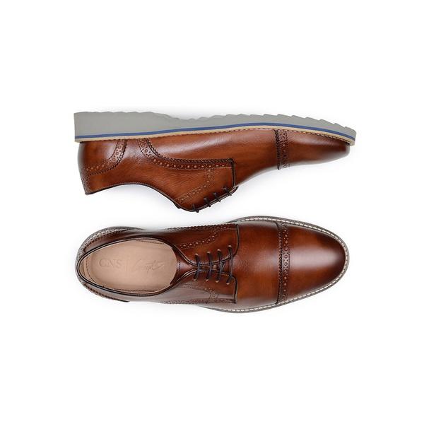 Sapato Casual Masculino Derby CNS Brogue 50610 Café