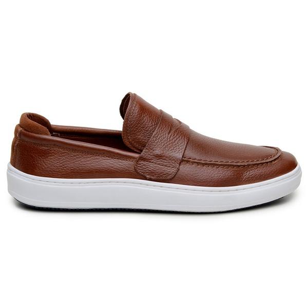 Sapato Casual Masculino Slip-on CNS 19084 Caramelo