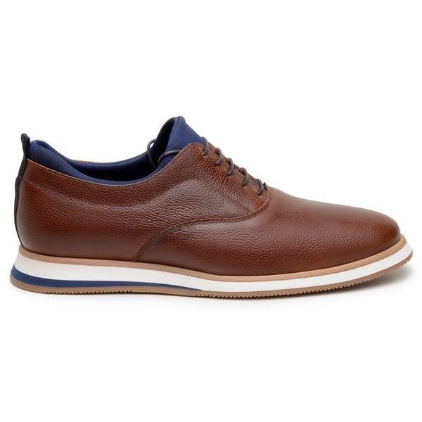 Sapato Casual Masculino Oxford CNS ABD 010 Tan e Marinho