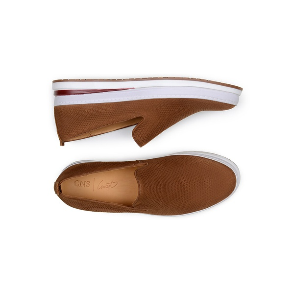 Sapato Casual Masculino Slip-on CNS Every 14 Ferrugem