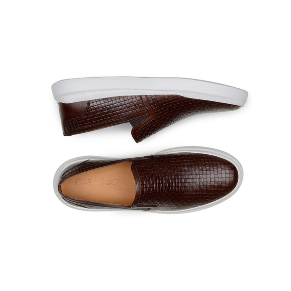 Sapato Casual Masculino Slip-on CNS Gales 07 Tostado