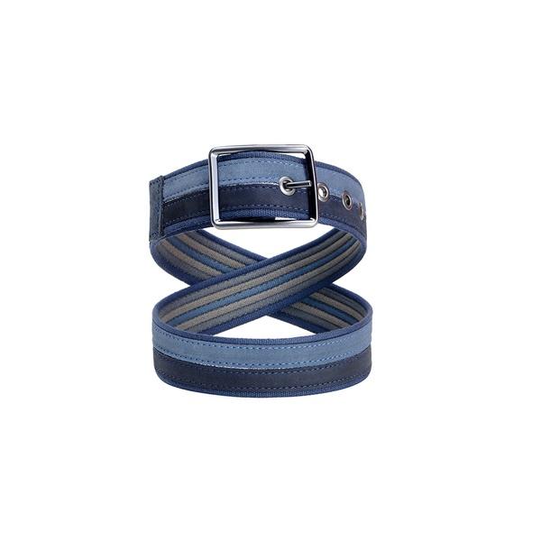Cinto em couro cns azul 08313041