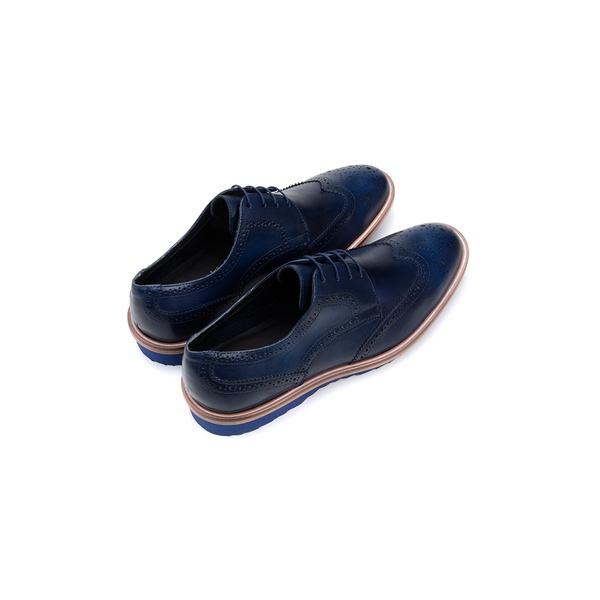Sapato Casual Masculino Derby CNS Brogue 341006 Marinho