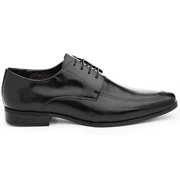 Sapato Social Masculino Derby CNS LZI 020 Preto