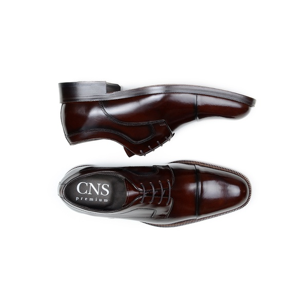 Sapato Social Masculino Derby CNS BRS 001 Brown