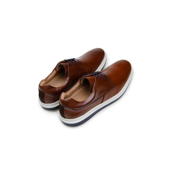 Sapato Casual Masculino Derby CNS 383001 Conhaque