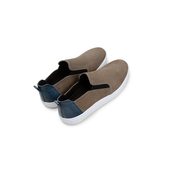 Tênis Casual Masculino Slip-on CNS 387001 Cinza