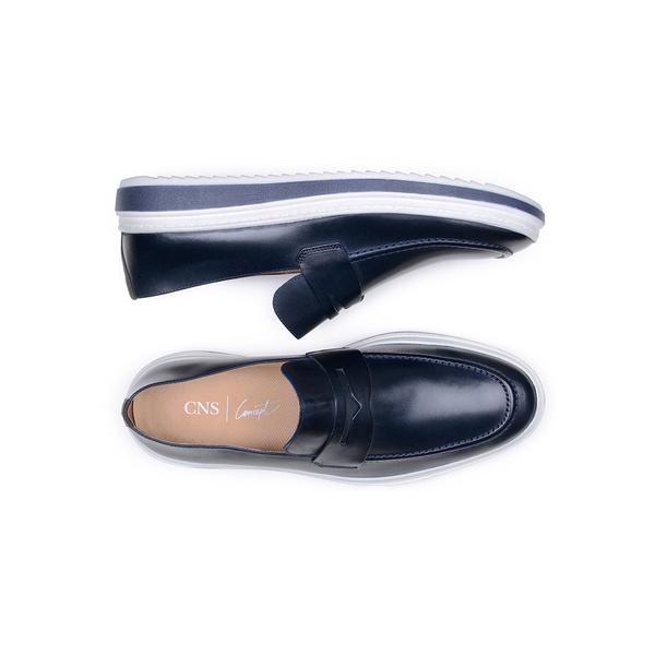 Sapato Casual Masculino Mocassim CNS 383005 Marinho