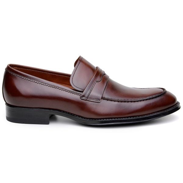 Sapato Social Masculino Mocassim CNS George 04 Tostado