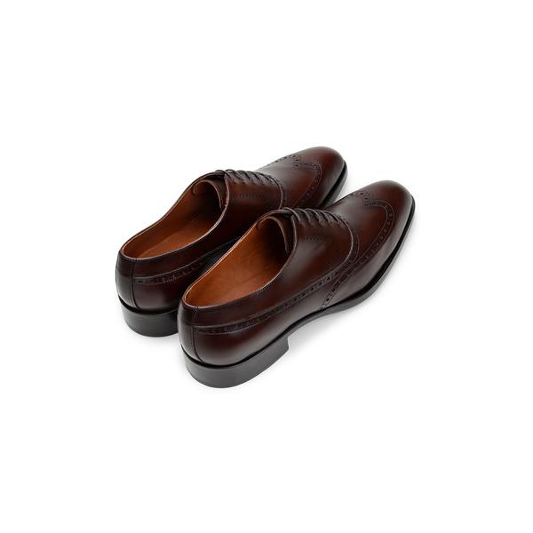 Sapato Social Masculino Oxford CNS Brogue Donald 30 Tostado
