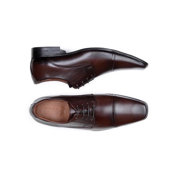Sapato Social Masculino Derby CNS 6425 Marrom