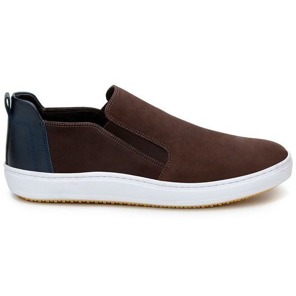 Tênis Casual Masculino Slip-on CNS 387001 Café