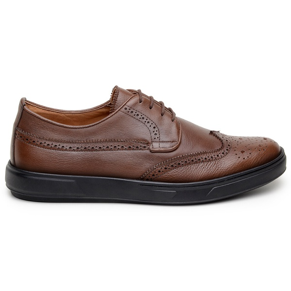 Sapato Casual Masculino Derby CNS Brogue 393006 Café