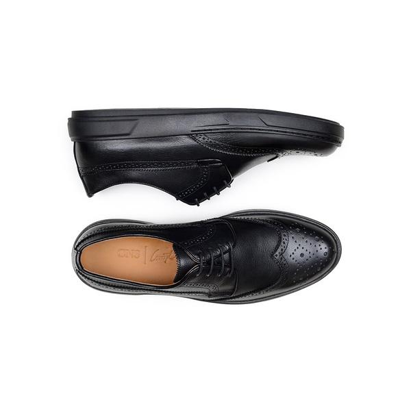 Sapato Casual Masculino Derby CNS Brogue 393006 Preto