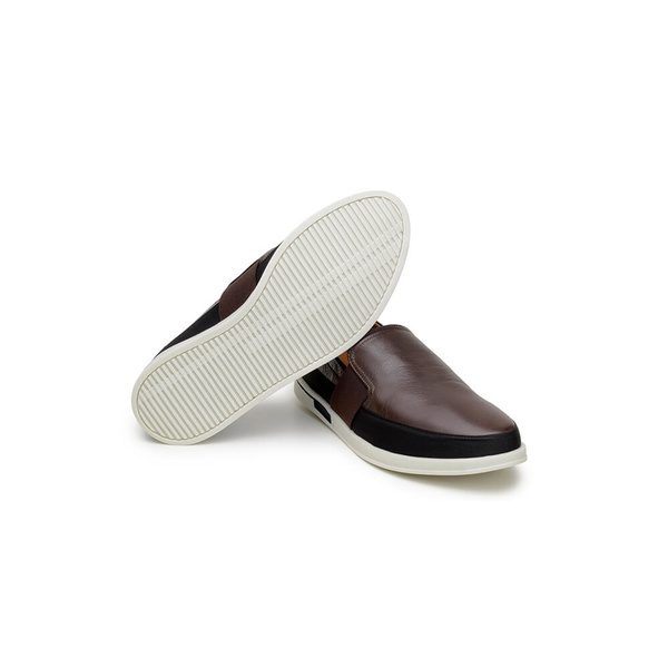Sapato Casual Masculino Slip-on CNS 405003 Café