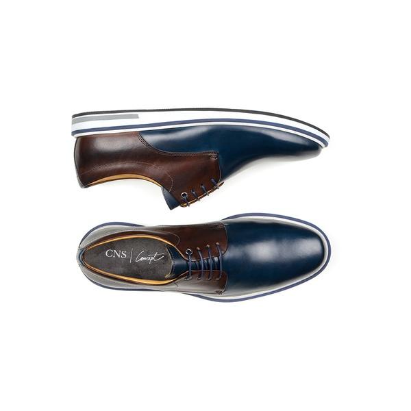 Sapato Casual Masculino Derby CNS 176044 Marinho e Café