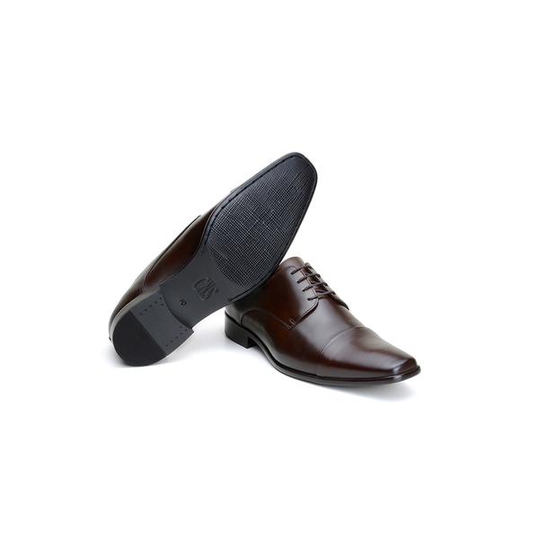 Sapato Social Masculino Derby CNS LZI 031 Mouro