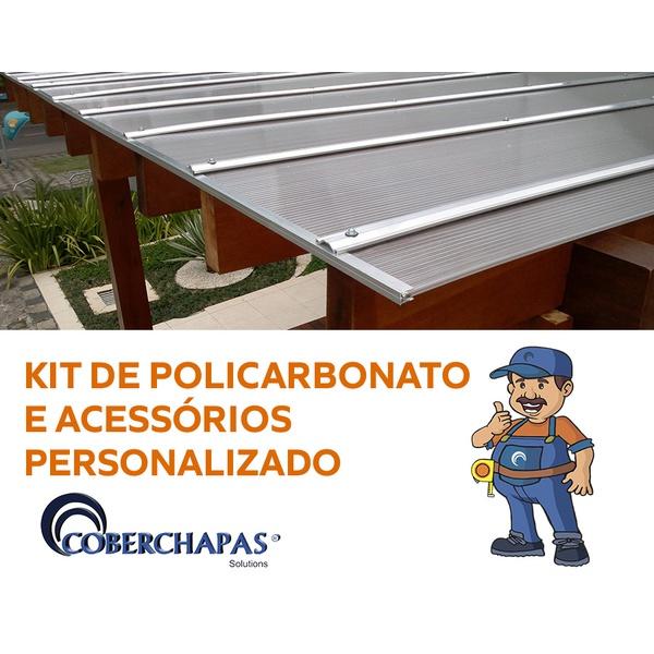 Kit 2 Chapas de Policarbonato Alveolar 6mm + Acessórios para Instalação