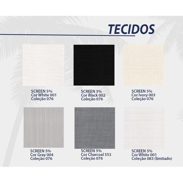 Tecido Sunscreen 5% várias cores