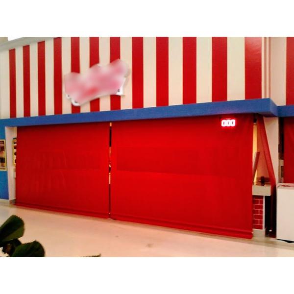 Toldo Cortina 3,00m x 2,75m - Vermelho