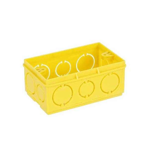 Caixa De Luz 4X2 Retangular Amarela - ADTEX