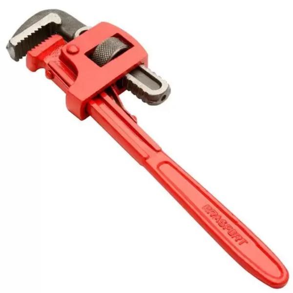 Chave De Grifo 10'' Vermelha - Brasfort