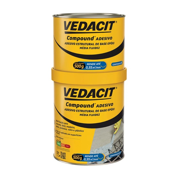 Compound Adesivo Componente A+B 1Kg - Vedacit