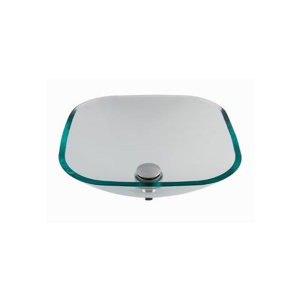 Cuba De Apoio Em Vidro Cristal 36cmX36cm - Astra