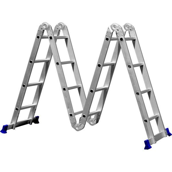 Escada Articulada de Alumínio - 4X4 (16 Degraus)
