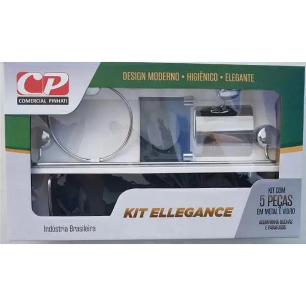 Kit Ellegance 5 Acessórios De Banheiro - Comercial Pinhati