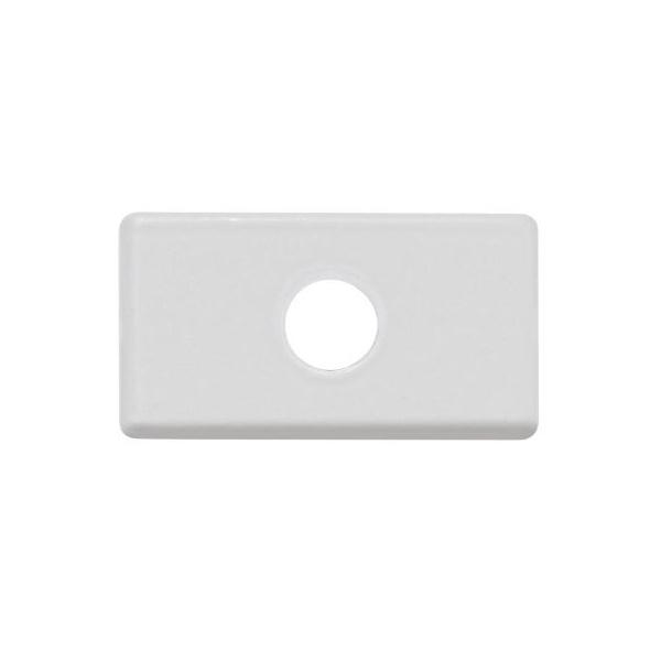 Módulo Tampo Com 1Furo 9,5mm Branco - Tramontina
