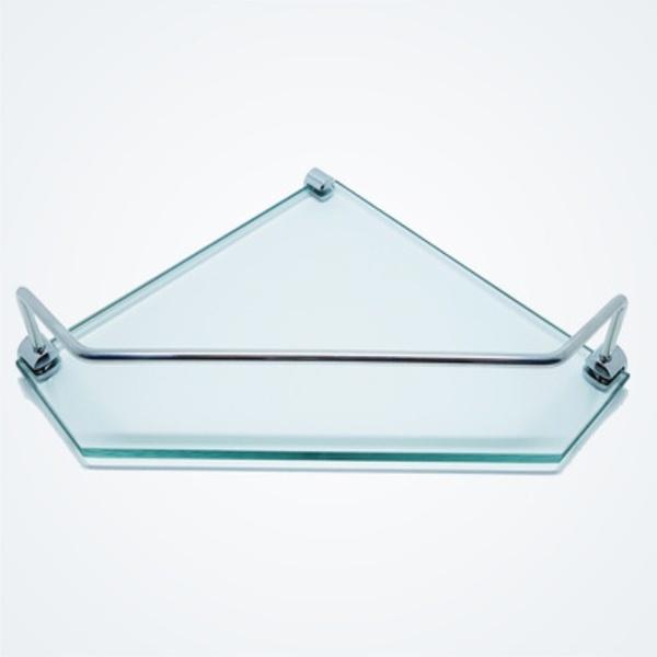 Porta Shampoo Canto De Vidro Incolor - Comercial Pinhati