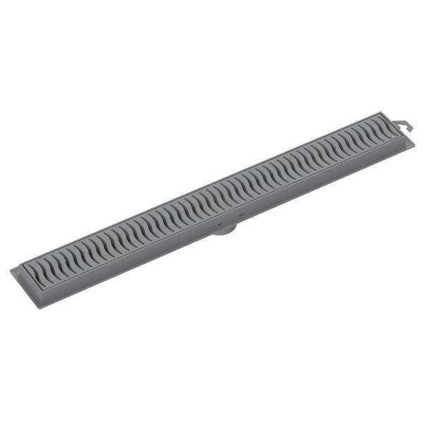 Ralo Linear Com Grelha Cinza 50cm - Tigre