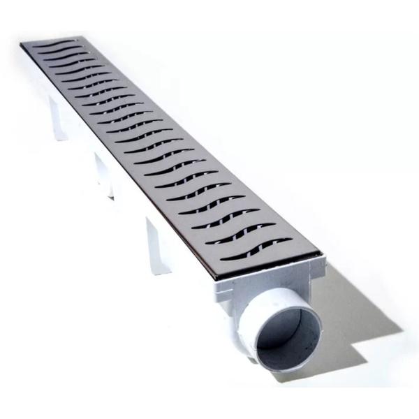 Ralo Linear Com Tampa Vazada E Coletor 6cm X 50cm Seca Box