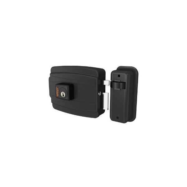 Fechadura Elétrica P/Portão 40mm Preto Fosco - Stam