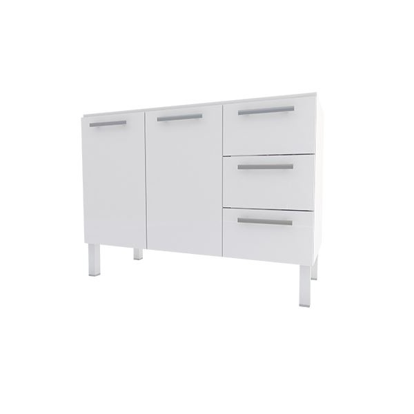 Gabinete De Cozinha Em Aço P/ Pia 1,2m Vênus Flat - Cozimax