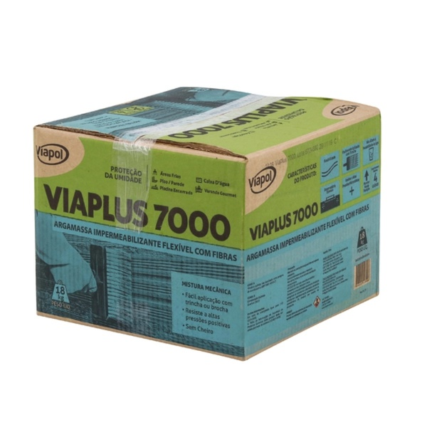 Argamassa Polimérica Viaplus 7000 Fibras 18kg - Viapol